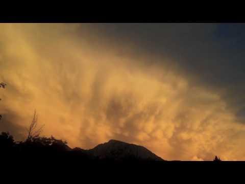 Rare, Amazing Mammatus Clouds in Time Lapse Over Mt. Olympus in Utah (HD)