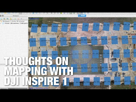 Aerial Maps Workflow w/ DJI Inspire 1, Maps Made Easy, Photoscan for Covering Smaller Areas