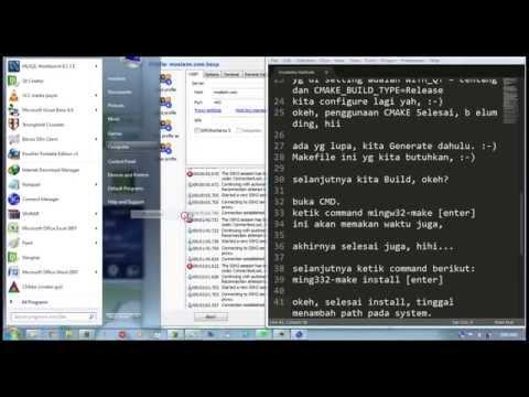 Menginstall OpenCV di Windows untuk Qt menggunakan Mingw+CMake Part 2