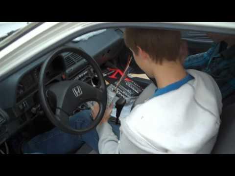 90 Civic EF full stereo install (Part 1)