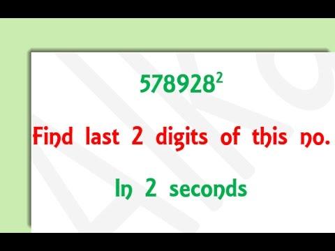 find last 2 digits of a square number-Classic math tricks
