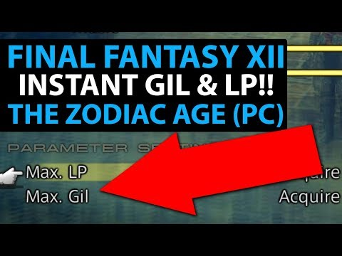 Final Fantasy 12 The Zodiac Age PC - Instant Unlimited Gil & LP *WARNING* MIGHT MAKE GAME LESS FUN!