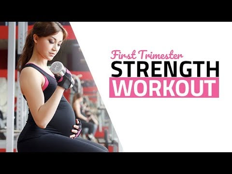 First Trimester Pregnancy Workout (SAFE PRENATAL STRENGTH TRAINING!!)