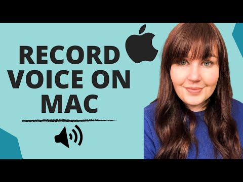 Audio Recording: How to Record your Voice with a Mac/Apple Computer (2017)