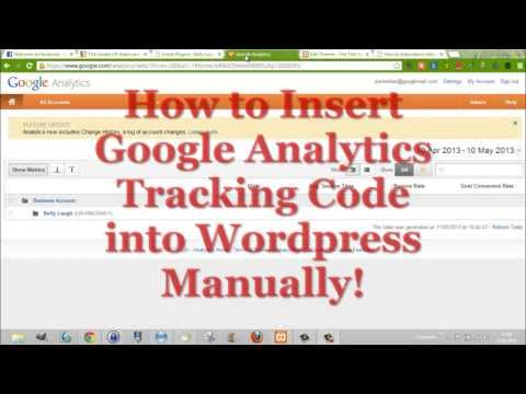 How to Insert Google Analytics in Wordpress Manually