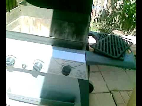 pool heater using a grill