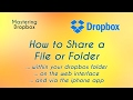 How to Share a File or Folder in Dropbox