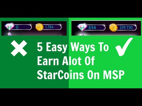 5 Easy Ways To Earn Alot Of StarCoins on MSP!