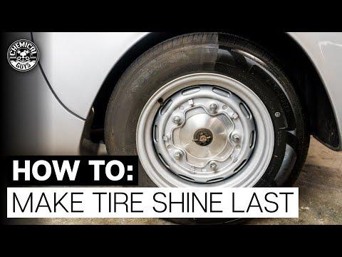 How To Make Tire Shine Last! | 1955 Porsche 550 Spyder | Chemical Guys