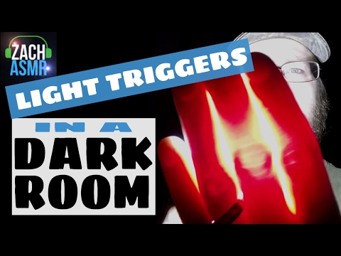 LIGHT TRIGGERS IN A DARK ROOM - ASMR - Follow the Light