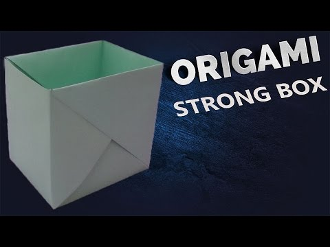 how to make a strong box from paper- Origami