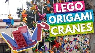 LEGO WORLD RECORD! 1,000 LEGO Origami Peace Cranes! | BRICK X BRICK