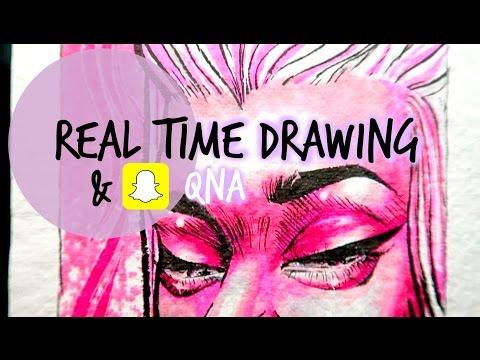 REAL TIME DRAWING + SnapChat QnA