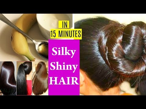 Hair Smoothening at Home || Get Silky Soft Smooth Hair !! Hair Mask for Dull Frizzy Damaged Hair