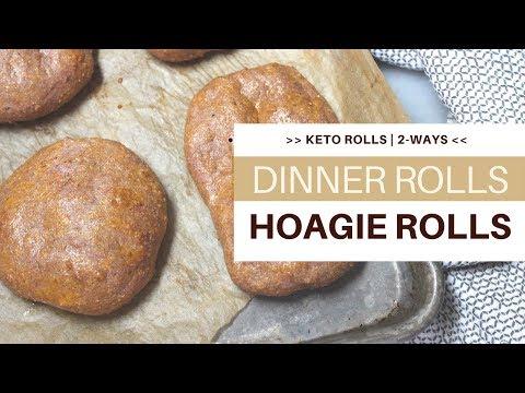 KETO HOAGIE/Dinner Rolls   5 NET CARBS PER ROLL   #almondflourrecipe   #ketogenicdiet   #lchf