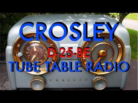 1953 Crosley D-25-BE Dashboard Table Radio Repair