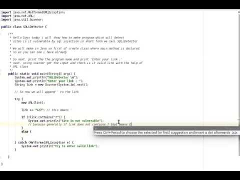 SQL Injection Detector in Java