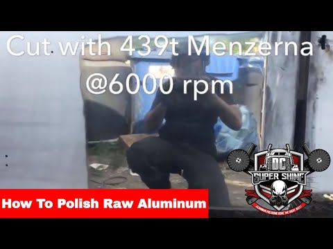 How to polish raw aluminum