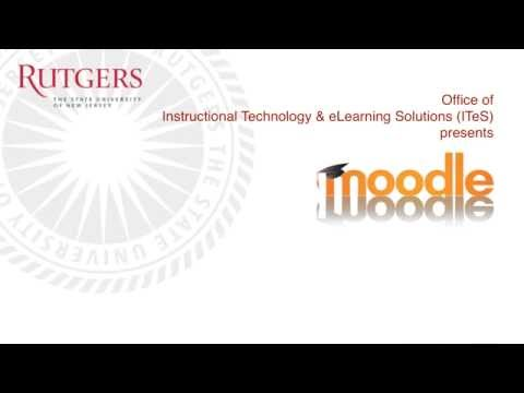 Rutgers Moodle in 5 - Student Tour