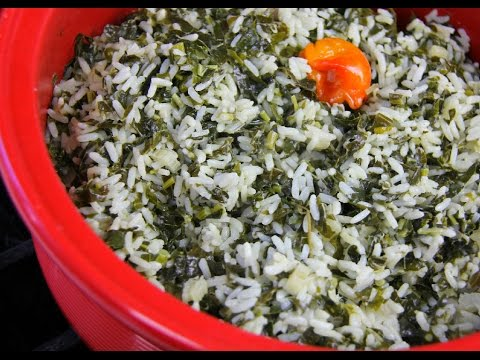 Vegetarian 3 Spinach Rice #TastyTuesdays | CaribbeanPot.com