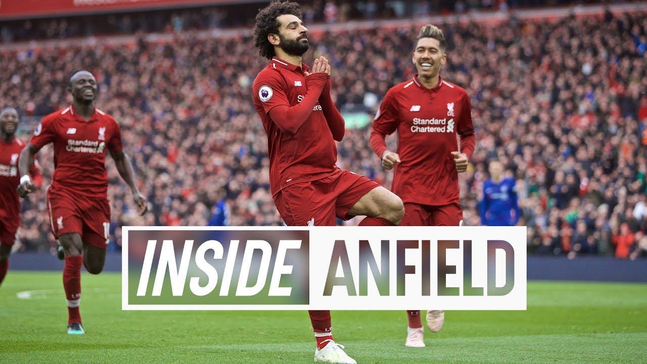 Inside Anfield: Liverpool 2-0 Chelsea   Anfield erupts after Salah's screamer