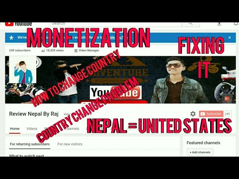 HOW TO FIX COUNTRY FOR MONETIZATION || CHANGING NEPAL = US ||NOT CHANGED PROBLEM FIXING|| EASY STEPS