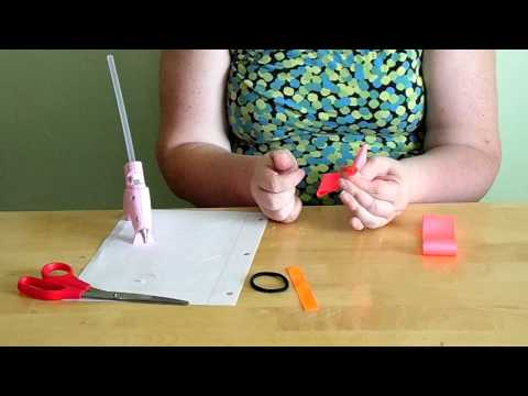 How to make a classic hair bow with ponytail holder