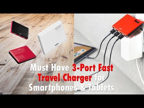 Must Have 3 Port Fast Travel Charger for Smartphones and Tablets (Vogduo Charger Pro)