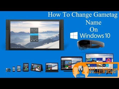 Change your Xbox Gamertag Name on Windows 10