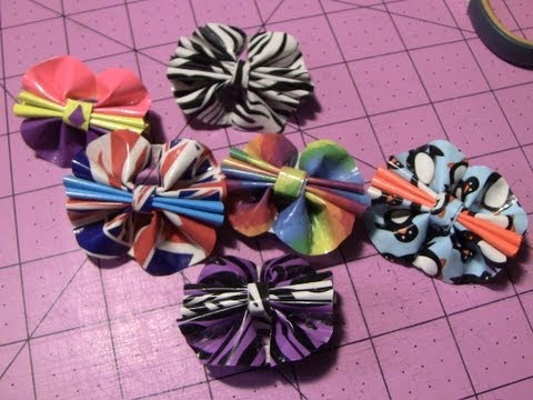 How to make Duct tape Bow rings!