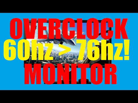 HOW TO OVERCLOCK YOUR MONITORS REFRESH RATE! 2015