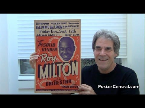 Roy Milton Window Card 1950s Boxing-Style Jump Blues Poster