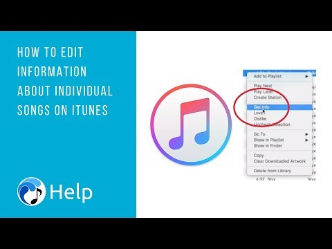 Edit Information About Individual Songs on iTunes