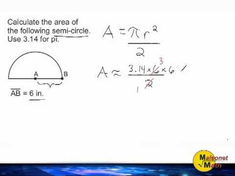 Area Of A Semi-Circle