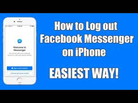 how to logout messenger iphone 4/4s/5/5s/6/6s