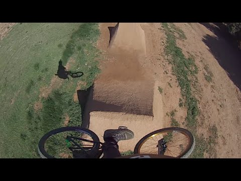 My Backyard Dirt Jumps Go Pro Course Preview
