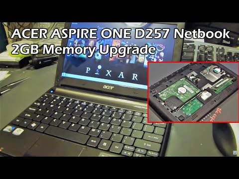 ACER ASPIRE ONE D257 Netbook 2GB Memory Upgrade and Keyboard Swap