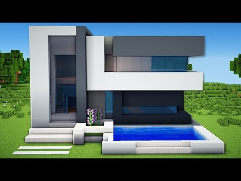 Minecraft: Small & Easy Modern House Tutorial - How to Build a House in Minecraft