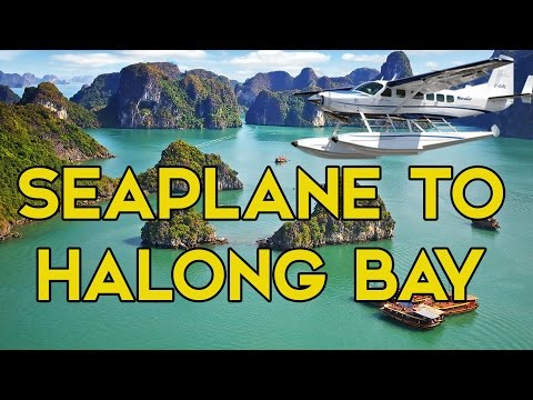 TRAVELLING HANOI TO HALONG BAY IN SEAPLANE - VLOGGING IN VIETNAM