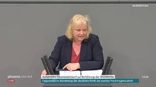 Bundestagsdebatte zur Grundrente am 02.07.20