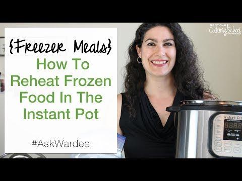 How To Reheat Frozen Food In The Instant Pot {Freezer Meals} | #AskWardee 079
