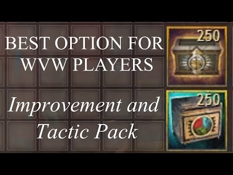 Opening 250 Improvement and Tactic Packs  |  Guild Wars 2
