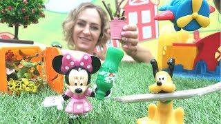 Minnie Mouse Ile Eğlenceli Oyun. Oyun Parkında Temizlik Yapıyoruz!