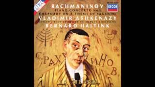 ラフマニノフ - パガニーニの主題による狂詩曲 Op.43 アシュケナージ(ピアノ) ハイティンク フィルハーモニア管
