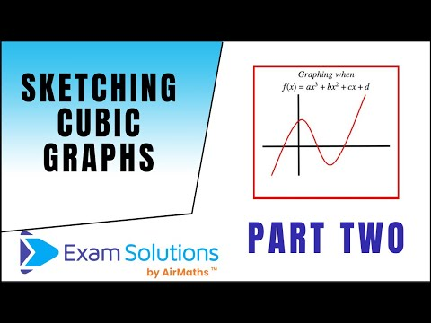 How to Sketch Cubic Graphs : ExamSolutions Maths Revision