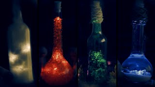Diy Elements In A Bottle Halloween Room Decor Earth Air Water Fire
