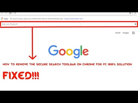 How to remove Secure Search toolbar in chrome 100% solution and working (No Downloads Required)