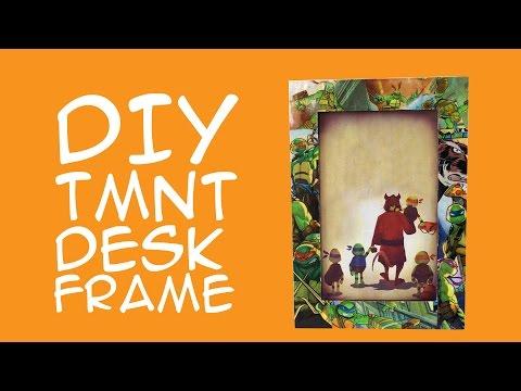 Teenage Mutant Ninja Turtles DIY Frame ( for TMNT fans) Comic Book Craft - CraftyMcFangirl.com