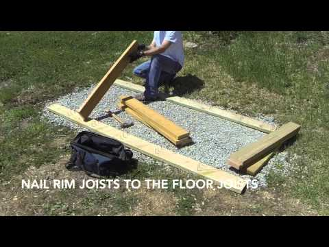 How To Build A Lean To Shed - Part 1 - Gravel Foundation And Floor Framing