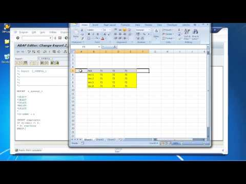SAP ABAP Training - Modifying Data In A Database Table Using Open SQL Statements - Insert